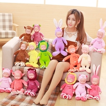 1pcs 35CM Cute rabit;bear;Lion;Monkey Electronic sing Doll Appease Accompany Baby Sleep plush Toy For Kids Girl Baby Gift(China)
