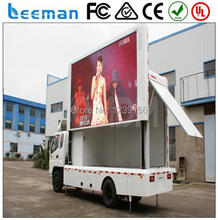 Leeman p10 vehicle led display advertising P10 led video display for mobile truck and trailer bot sale in Sunrise