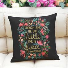 Letter Printing Dyeing Sofa Bed Home Decor Pillow Case Cushion Cover NEVER SAY NEVER Letters Pillow Cushion Cover Ups 45cmx45cm(China)