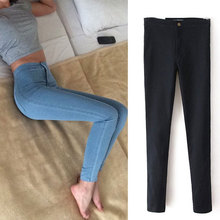 Slim Jeans For Women Skinny High Waist Jeans Woman Blue Denim Pencil Pants Stretch Waist Women Jeans Black Pants Calca Feminina(China)