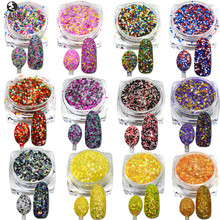 Nail Salon 1Bottle 3g Sweet Cheese Sequins Glitter Powder Super Nail Glitters Dust Tips Shinny Nail Art Decorations SASN13-24