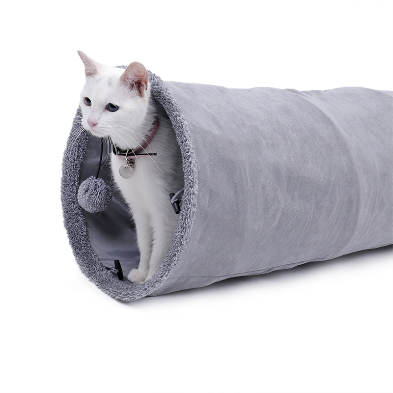 big cat tunnel Big Long Cat Tunnel with Play Ball Suede Material-Free Shipping HTB1RMNSqBUSMeJjy1zkq6yWmpXa6