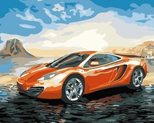 WEEN Sports Car Pictures Painting By Numbers Modern DIY Oil Painting Acrylic Drawing Unique Gift for children Wall Art(China)