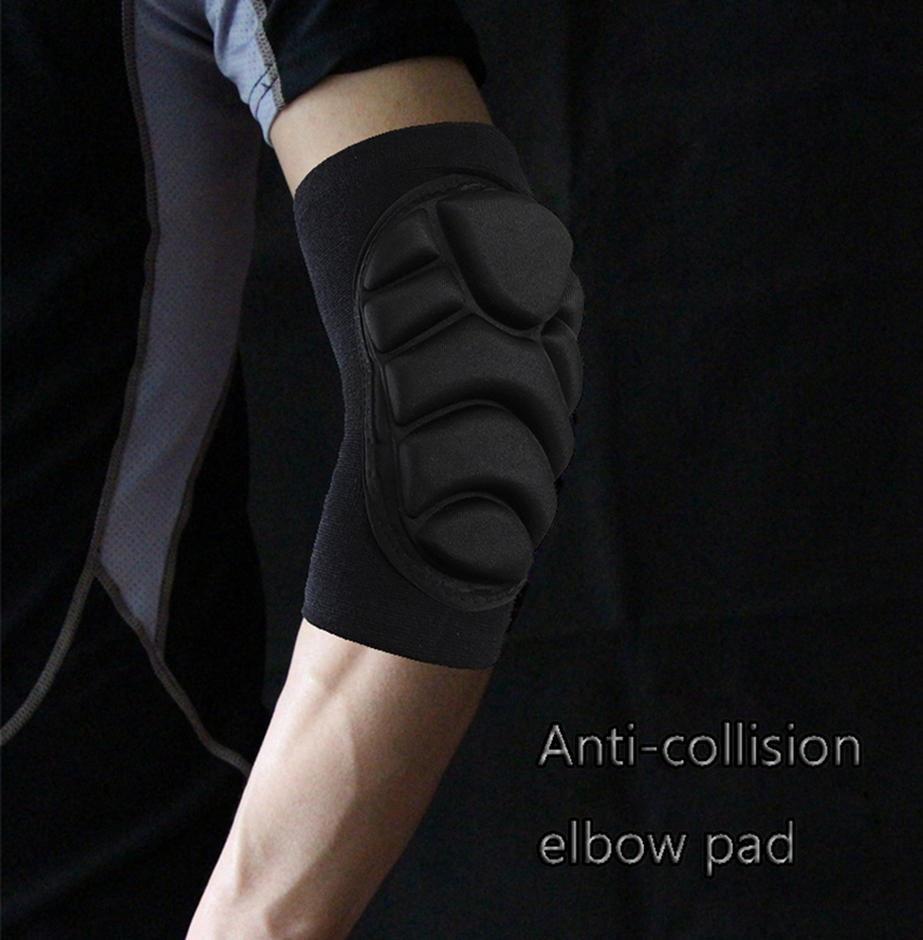 Crossfit,Basketball Black Elbow Support Brace Riding Elasticity Arm Support Brace Men Women Elbow Brace Mountain Bike Elbow Guards Elbow Protection Pads Sleeve Pads Guard,for Sports Roller-Skating