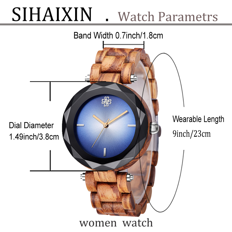 wooden watch for lady clock