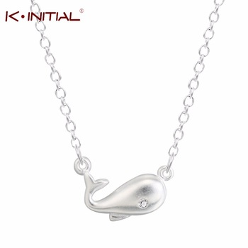 Kinitial 1Pcs Fashion Women Clavicle Necklaces Choker Necklace Dolphin Pendant Jewelry Women Collar Necklace 925 Silver Bijoux