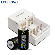 2pcs Litelong 11000 mah rechargeable D(DR20) battery with lcd display battery charger for AA/AAA//C/D/ battery