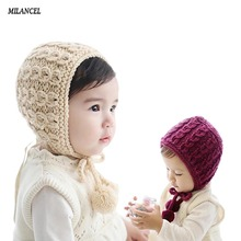 2017 New Baby Infant Winter Warm Crochet Knit Hat Beanie Cap Baby Photo Props Boy Girl hats 6-30 months(China)