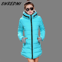 Women's Jacket Winter 2017 New Medium-Long Cotton Parka Plus Size Coat Slim Ladies Casual Clothing Hot Sale