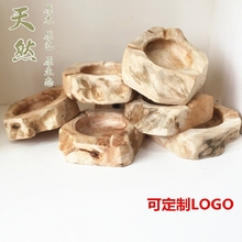 Creative Wooden Ashtray Natural Wood Cool Ashtray Creative Gifts / Classic Tabletop Decoration Pocket Car Ashtray(A312)(China)