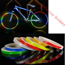 Buy Reflective Stickers Motorcycle Bicycle Reflector Bike Cycling Security Wheel Rim Decal Tape Safer 2017 New fashion for $1.45 in AliExpress store