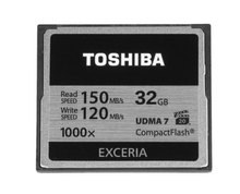 Toshiba CF Card 32GB EXCERIA 1000x Compact Flash Card 32GB CF Memory Card Read 150MB/s VPG20 for Digital Camera Cheap 2017(China)
