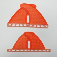 Quilhas fiberglass honeycomb surfboard fin FCS/Future fin G3+GL Blue/Orange quad fin free shipping(China)