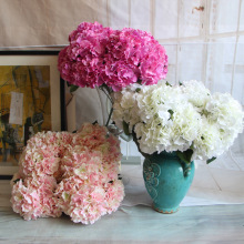 "Artificial Hydrangea Flower 5 Big Heads 2 Bounquet flowers  (Diameter 7"" each head) 5 Colors Avaliable"