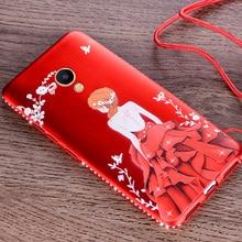 Meizu M5 Note case luxury fashion diamonds dress girl back cover meizu m5 note soft silicon protective PU mobile phone cases