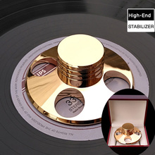 High-End Copper Material LP Turntables Metal Disc Stabilizer LP STABILIZER Record Weight/Clamp With High Quality Package Box(China)