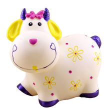 Large Cartoon Cow Sheep Piggy Bank Coin Savings Pot Children Toy Birthday Gift Cash Safe Money Box Saving Bank Cofre(China)