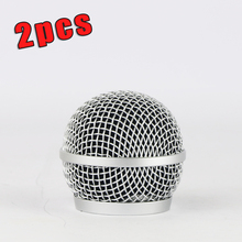 2PCS New Replacement Ball Head Mesh Microphone Grille for Shure PG58 PG 58 Accessories