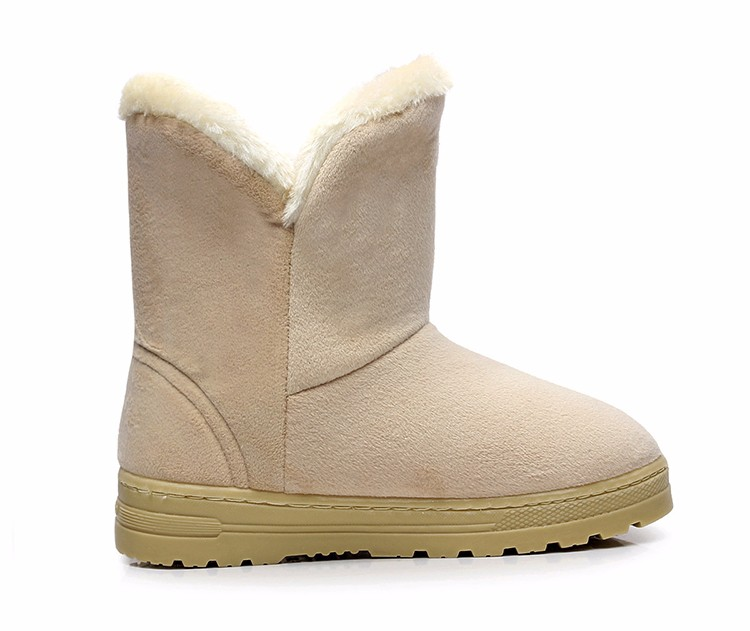 Women Snow Boots 2016 Warm Solid Plus Velvet  Flat Women Boots Winter Bowtie Casual Shoes Round Toe Wild Ladies Shoes SNF905 (11)
