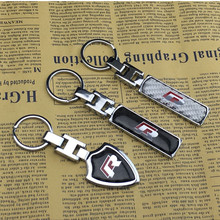 1pc R Rline R Line Logo Car Key Holder 3D Metal Keychain Key Rings Keyrings For Volkswagen VW Passat Tiguan Bora Golf Jetta Polo