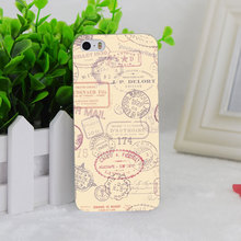 A1850 Dyefor Passport Chic Travel Stamp Transparent Hard Thin Case Cover For Apple iPhone 4 4S 5 5S SE 5C 6 6S 6Plus 6s Plus