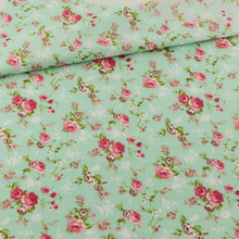 Green Flower Cotton Fabric Home Textile Decoration Bedding Clothing Patchwork Teramila Fabrics Quilting Doll Sewing Cloth Cover(China)