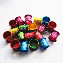 Wholesale/retail C8 8mm Bird Dove Pigeon Aluminum Leg Rings Custom Aluminum Lettering Rings  Black/Red/Blue/Green/Gold
