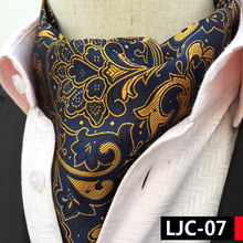 2017 Man Unique Designer's Ascots Luxury Paisley Collar Handkerchief for Banquet Wedding Decoration