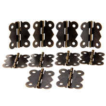 10Pcs 40x34mm Antique Bronze/Silver Cabinet Hinges Butterfly Iron Hinges Furniture Accessories Wood Box Hinges Furniture Fitting