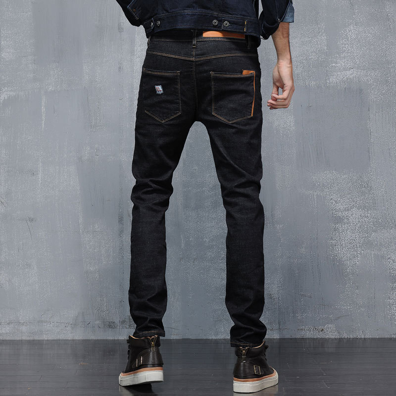 Men Fashion Jeans Full Length Solid Skinny Jeans Men Brand Designer Clothing Black Denim Pants Luxury Casual Trousers MaleОдежда и ак�е��уары<br><br><br>Aliexpress