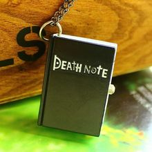 wholesale 100pcs/lot free DHL Hot Sale High Quality kids quartz watch Black Anime Death Note Pocket Watch necklace For Xmas Gift(China)