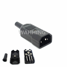 New Black IEC C14 Male Plug Rewirable Power Connector 3 Pin IEC-C14 Socket Computer Cable Plug Power Adapter 10A 250V HY1098