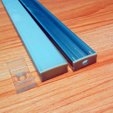 aluminum led profile for led strips 10-22mm frosted milk white / clear transparent pc cover