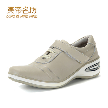 pu shoes sewing line spring autumn shoes flat hook loop DFUSS22