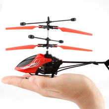 Flying Mini RC Infraed Induction Aircraft Flashing Light Toys RC Airplanes Intelligent Hand Induction Airplane Toy(China)