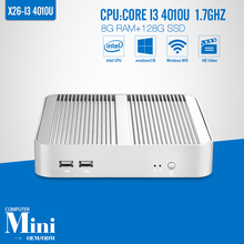 Partaker Desktop Core I7 4500U I3 4010U I5 4200U mini computer Fanless Mini PC hdmi vga Windows 7/8/10 Nuc 4K HTPC