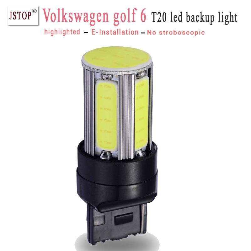 Vwgolf 6 T20 7440 Reverse Lights 12V backup light 6COB 6000K 7443 led T20 lamp canbus External Lights backup lamp w21w car bulbs<br><br>Aliexpress