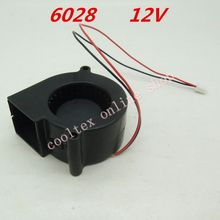 10pcs/lot  6028 blower fan Cooling fan 12 Volt  Brushless DC Fans cooler  radiator