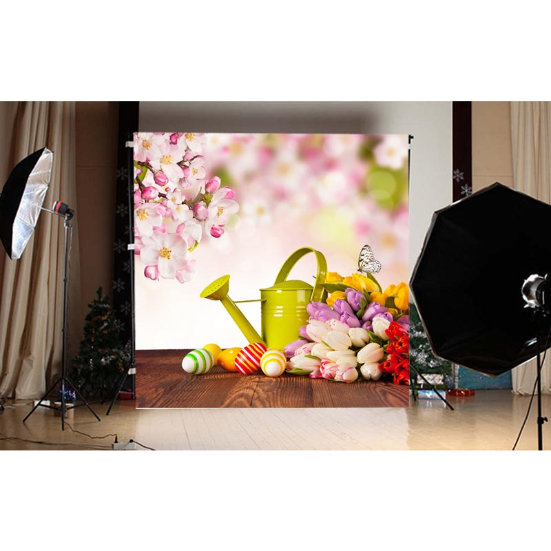 1.5X1.5M pink Easter egg printed thin vinyl studio photography background for taking photo of newborn GE-124<br><br>Aliexpress