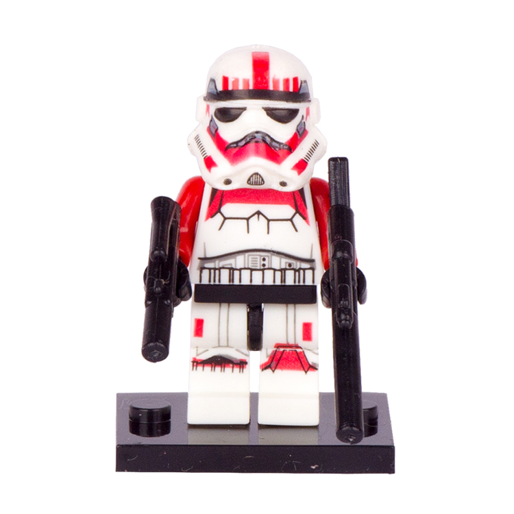 1PC Star Wars Red Stormtrooper Building Blocks Super Heroes Avengers Minifigures Storm Trooper Clone Solider Mini Figures Toys<br><br>Aliexpress