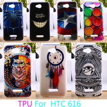 Soft TPU Phone Case For HTC Desire 616 5.0 inch D616W  Hard Colorful Back Cover Anti-knock Cases Shell Housings Hoods Skins Bags