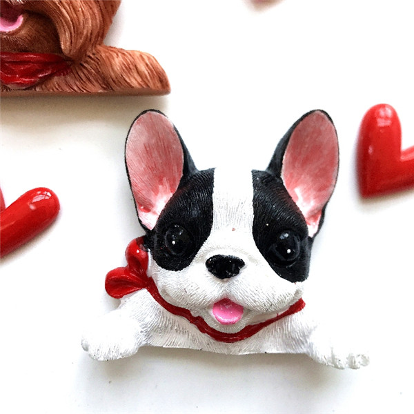 French Bulldog cute puppy dogs resin switch stickers fridge magnets - Magnet show 4
