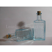 50ml light blue English carved rectangular perfume bottle ,special cosmetic container,12pcs/lot,high quality beautiful color(China)