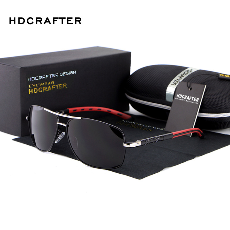 New 2017 HDCRAFTER Fashion UV400 Vintage Sports Google Uv Protection Driving Car Sunglasses Man Brand Designer E012<br><br>Aliexpress