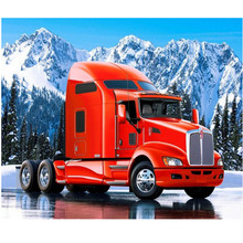 iamond embroidery Red truck head picture full round DIY 5D Diamond painting Cross Stitch Mosaic Pasting images diamond puzzle