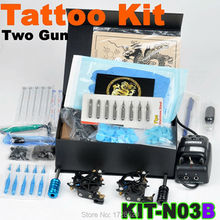 2015 Best Selling High Quality Beginner tattoo starter kits 2 guns Machine Power Supply gun Numb Inks Wholesale