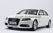 White Car Model New Audi A4L A4 B8 2010 1:18 Alloy Collection Luxury Vehicle