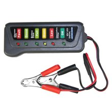 12V Digital Battery Alternator Tester Car Vehicle Diagnostic Tool with 6 LED Lights Display Battery Testers(China)