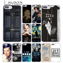 Lavaza 221B i am Sherlock Holmes Sherlocked Popular Hard Phone Case for Apple iPhone 8 7 6 6S Plus X 10 5 5S SE 5C 4 4S
