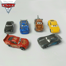 6pcs/set Disney Pixar Cars 3 Alloy Car Model Lightning McQueen Black Storm Jackson Curz Car Toy Children Birthday Christmas Gift